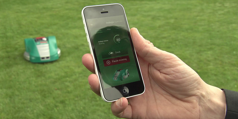 Photo de l'application Smart Gardening avec un Bosch Indego 1200 Connect
