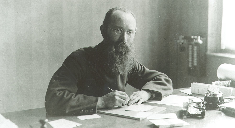 Photo de Robert Bosch dans son bureau